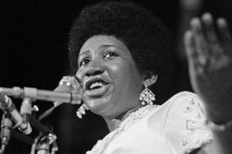 Aretha Franklin sur la scène du festival de jazz d'Antibes en 1970