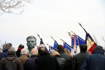 Cérémonie d'hommage aux fusillés de l'affiche rouge morts pour la France au square Manouchian (Marseille, 23 février 2013)