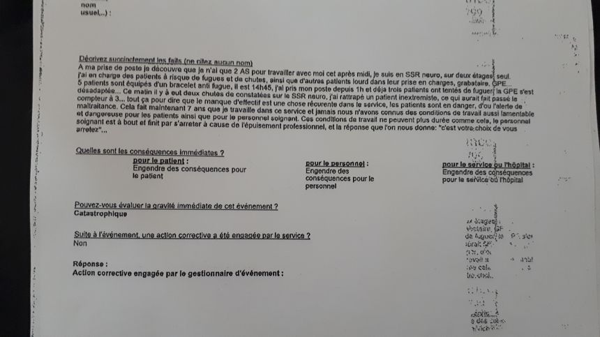 Signalement OSIRIS d'une d'une infirmière de l'hôpital Charles-Foix d'Ivry-sur-Seine  - Radio France