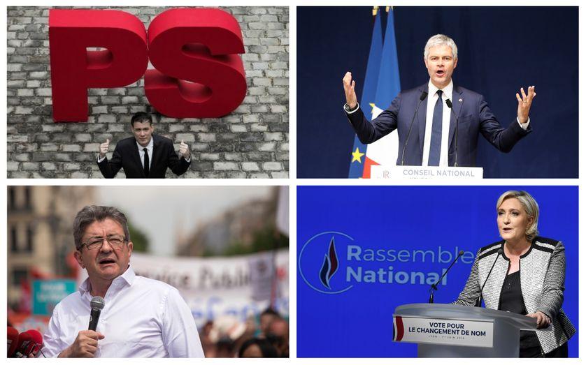Jean-Luc Mélenchon / Olivier Faure / Laurent Wauquiez / Marine Le Pen /