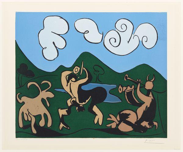 Pablo Picasso, Faunes et chèvres, 1959 - BnF, Estampes et photographie