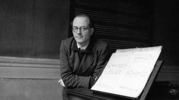 Le compositeur Olivier Messiaen