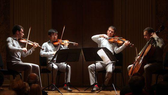 Le Quatuor Diotima au musée The Frick Collection à New York, en janvier 2011