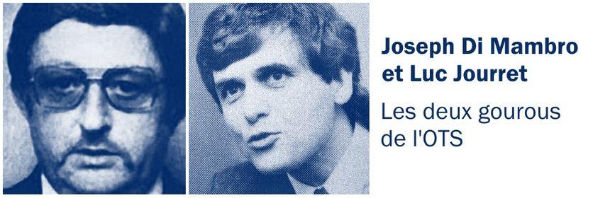 """Joseph, dit """"Jo"""", di Mambro et Luc Jourret, les gourous de l'Ordre du temple solaire."""