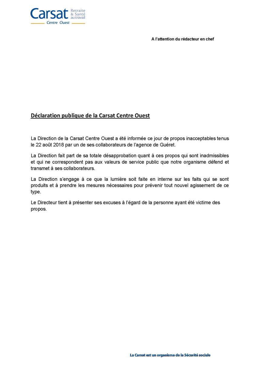 La Carsat a rendu publique la lettre d'excuses envoyée à la famille.