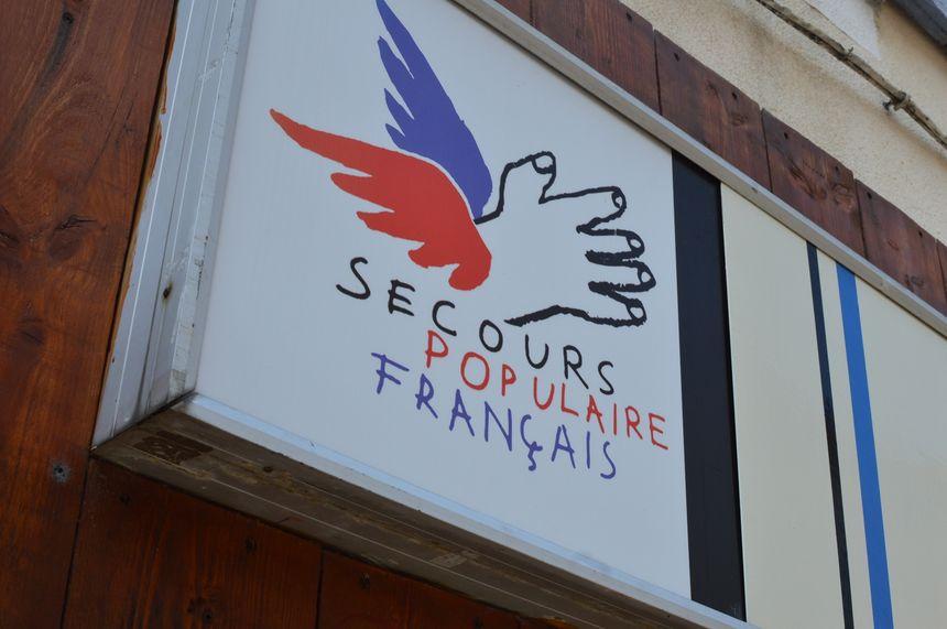 Le Secours Populaire à Crest, situé rue Sadi Carnot.