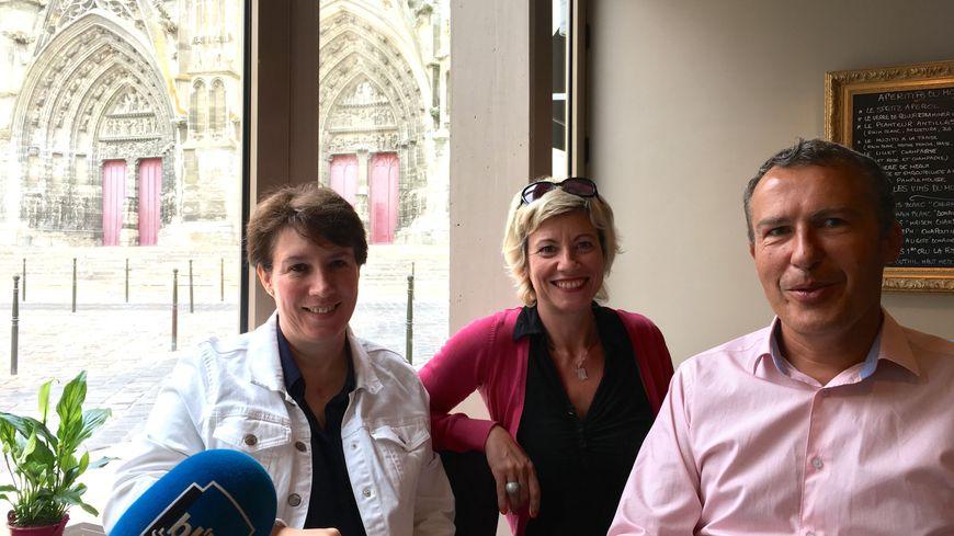 Frédériques Lécrivain, Nathalie Jourdin, Jean-François Leflamand à L'Ardoise, Meaux