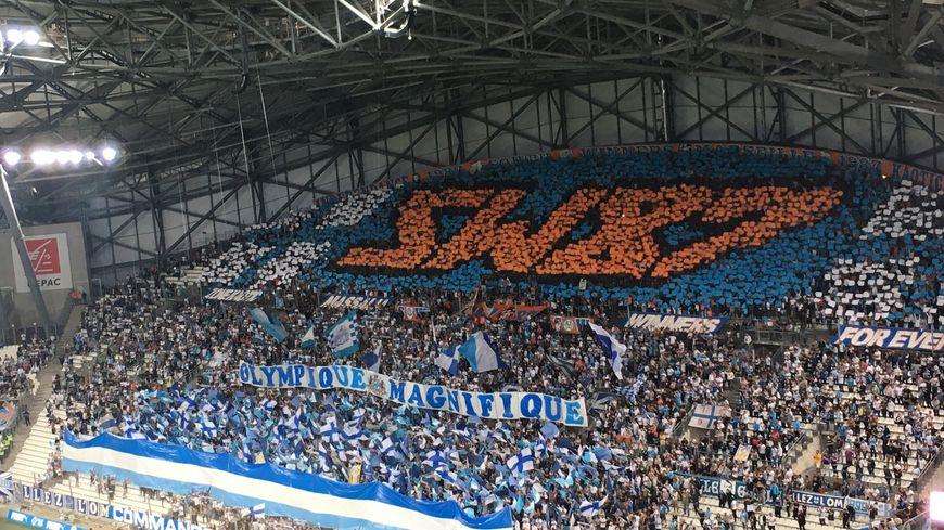 Le Virage Sud du Stade Vélodrome lors de OM / Rennes (2-2)