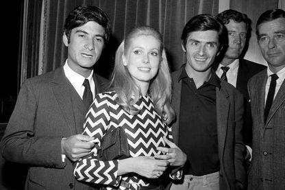 Jean-Claude Brialy, Catherine Deneuve et Sami Frey en 1967