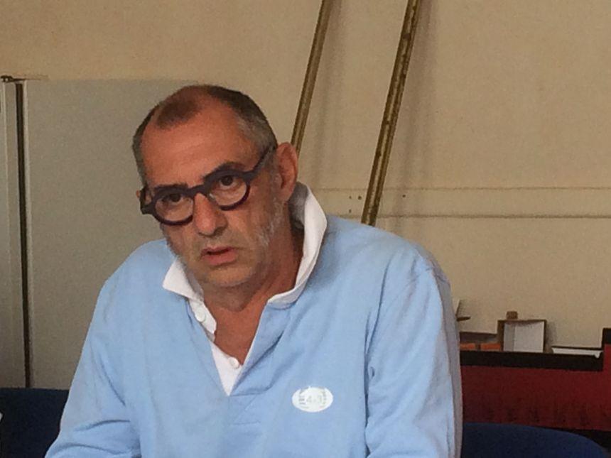 Frédéric Tronche, Secrétaire Régional de la CGT-Cheminots, ce lundi à Limoges