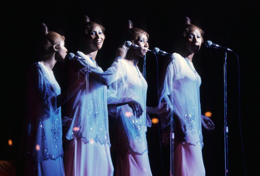 Aretha Franklin en concert à Tarrytown (NY) le 27 mai 1975