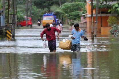 Les inondations dans l'Etat du kerala dans le sud-ouest de l'Inde sont responsables du déplacement d'un million de personnes