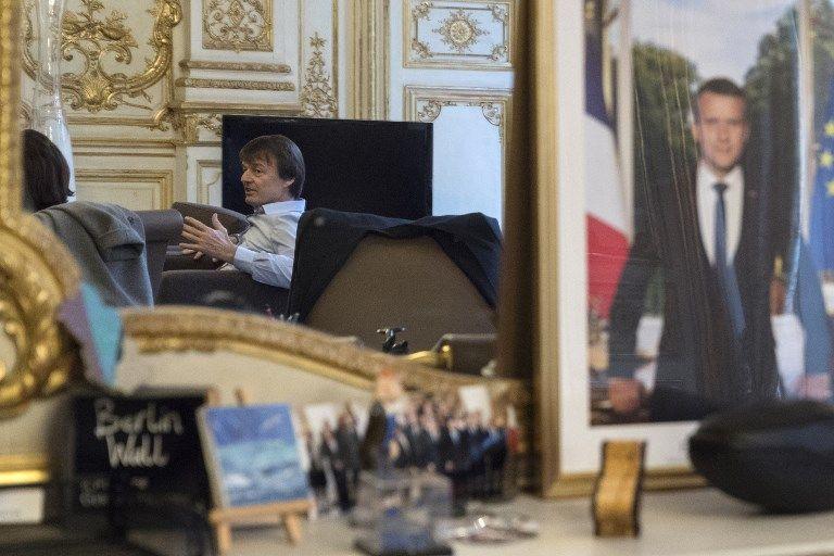 Nicolas Hulot, dans son bureau de ministre de la Transition énergétique, le 18 janvier 2018.