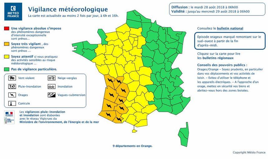 Orages en Dordogne : des rafales de 100 km/h et jusqu'à 20