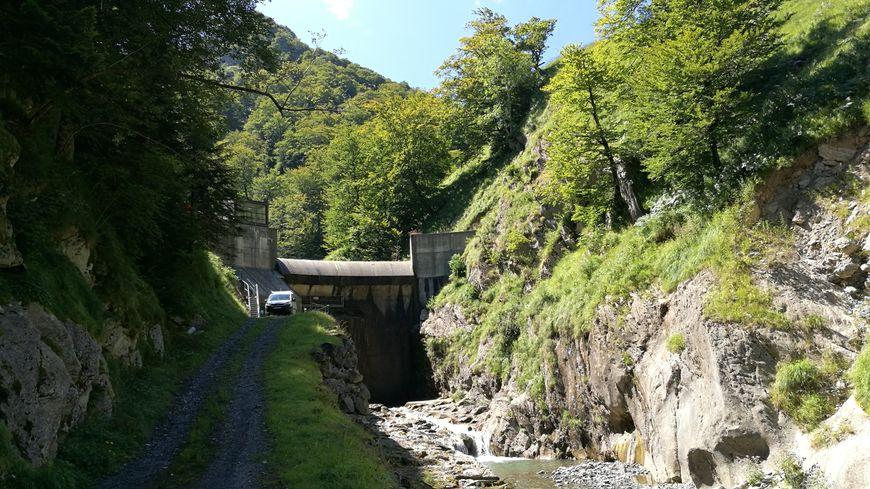 Le barrage d'Olhadoko en haute Soule