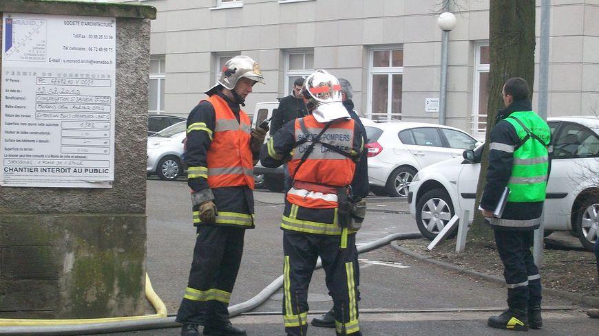 Des pompiers en intervention