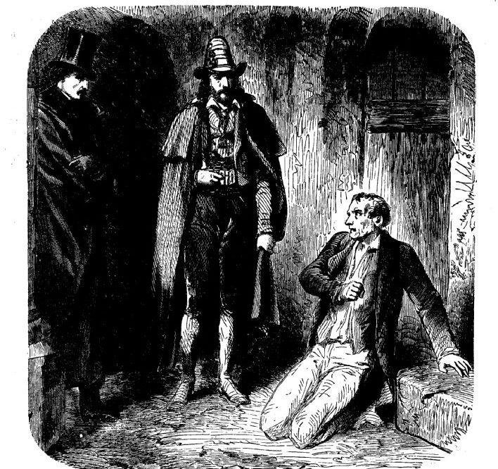 Le comte se dévoilant à Danglars comme étant Edmond Dantès