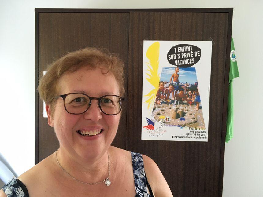 Brigitte Barthelet, secrétaire générale du Secours Populaire dans l'Indre.