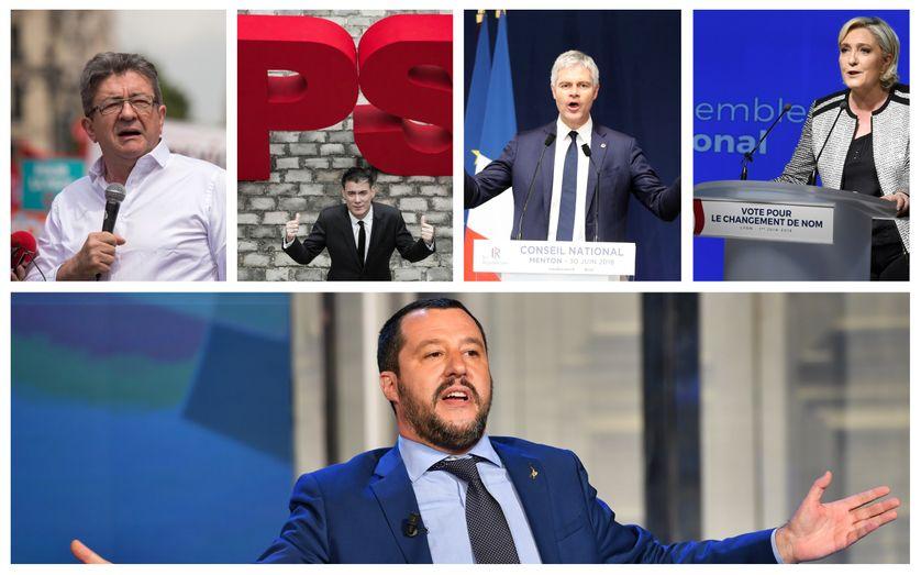 Jean-Luc Mélenchon / Olivier Faure / Laurent Wauquiez / Marine Le Pen // Matteop
