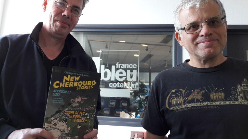 Les deux auteurs, Romuald Reutimann et Pierre Gabus, proposent un Cherbourg en mode fantastique dans cette BD d'une trentaine de pages