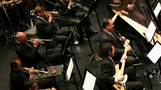 Les musiciens de l'Ensemble intercontemporain en concert au Rose Theater (2005)