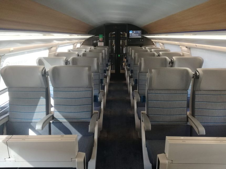 Les sièges de seconde classe