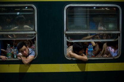 """""""The Green Train"""" photographié par Qian Haifeng"""