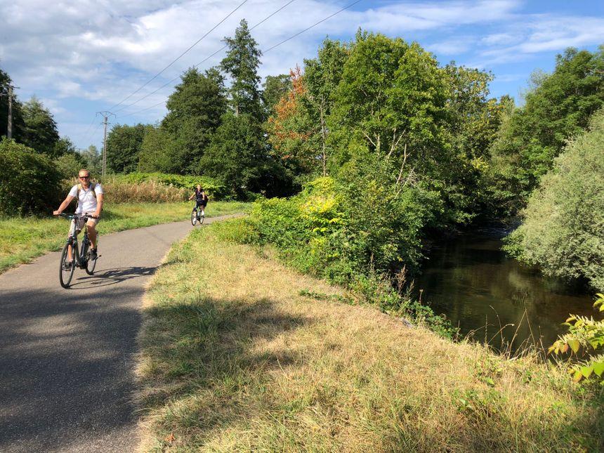 La véloroute de la vallée de la Bruche, près de Schirmeck
