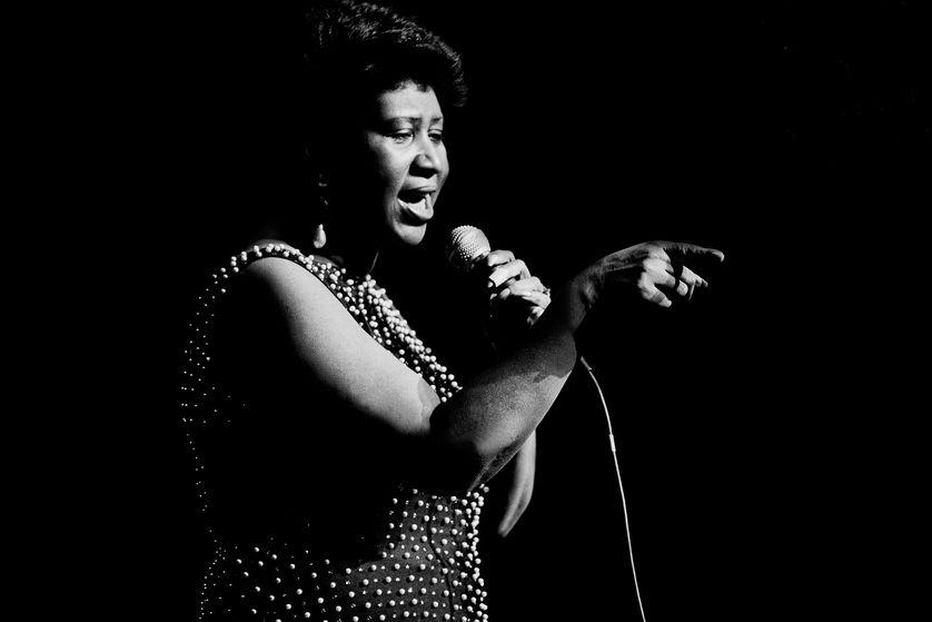 Aretha Franklin au theatre  de Chicago le 15 décembre 1986