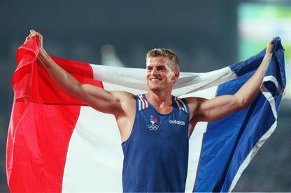 Jean Galfione en 1996, à Atlanta, devient champion olympique du saut à la perche