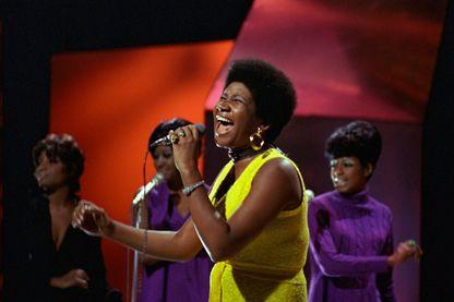 """Aretha Franklin durant le show télévisé """"Top of The Pops"""""""