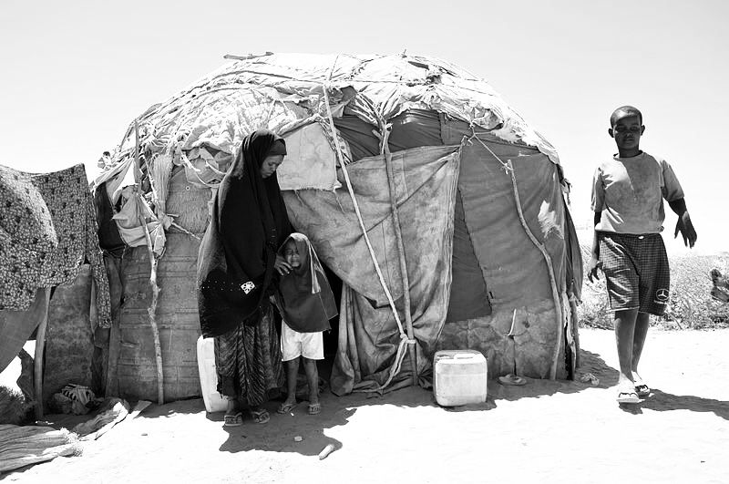 Mother-of-four Nuura Omar arrived in the Ali Hussein camp on the edge of Burao six weeks ago, after the drought left the family virtually destitute. 18 mars 2012
