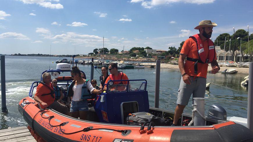 Les vacanciers ont pu tester le navire d'intervention des sauveteurs en mer