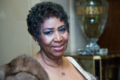 Aretha Franklin, le 22 mars 2015 à New York.