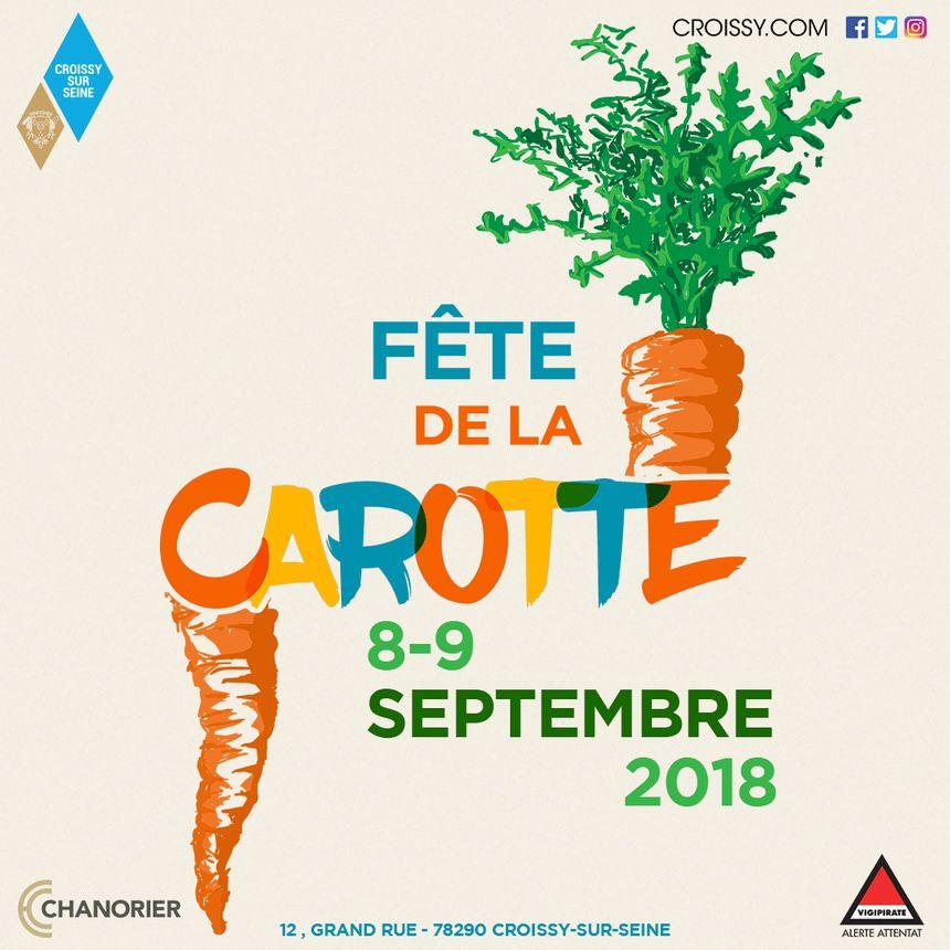 8 et 9 Septembre 2018 : rendez-vous à la Fête de la Carotte de Croissy-sur-Seine.