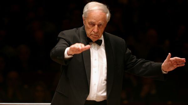 Pierre Boulez dirigeant l'Orchestre Symphonique de Chicago (2005)