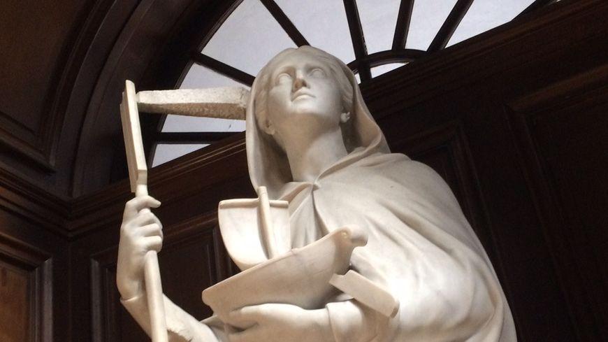 Sainte Geneviève protégeant Paris, église Saint Paul-Saint-Louis