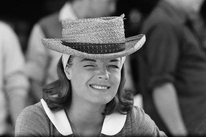 """L'actrice allemand Romy Schneider, sur le tournage du film """"L'Enfer"""" d'Henri-Georges Clouzot, en 1964."""