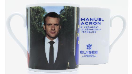 """Avant d'être mis en vente, les mugs à l'effigie d'Emmanuel Macron était abusivement estampillés """"Limoges"""""""