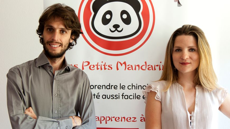 Vigdis et Julien Herrera, fondateur des Petits Mandarins