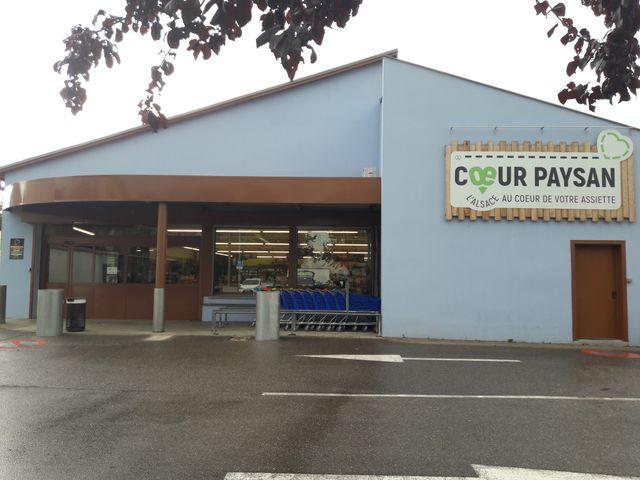 """Le supermarché """"Coeur Paysan"""" est implanté dans le centre de Colmar"""