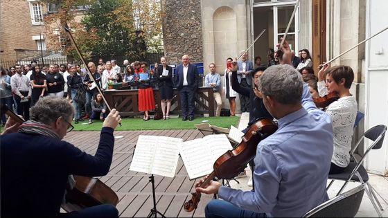 La rentrée en musique avec le quatuor Diotima au lycée professionnel de la mode Octave Feuillet