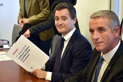 Le ministre des comptes publics Gérald Darmanin présente la réforme de l'impôt à la source