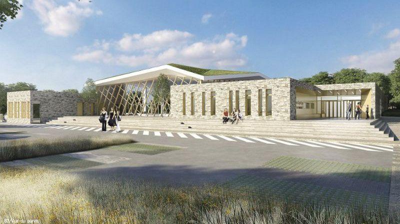 Le projet de centre aquatique, comme voulu par le cabinet d'architectes à ses débuts