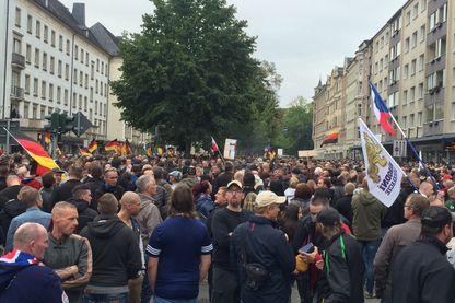 Rassemblement de l'AFD (Alternative pour l'Allemagne) à Chemnitz (Saxe) le samedi 1er septembre 2018