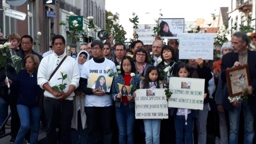 Marche de solidarité pour Sophie Le Tan, le 29 septembre 2018 à Schiltigheim