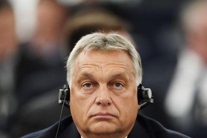 Le Premier ministre hongrois Viktor Orban au Parlement européen mardi 11 septembre, à la veille du vote.
