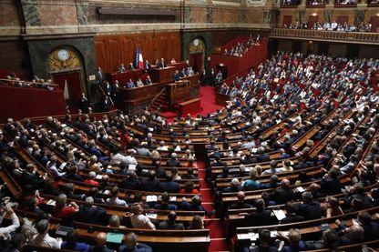 Emmanuel Macron en juillet devant le Parlement réuni en Congrès à Versailles