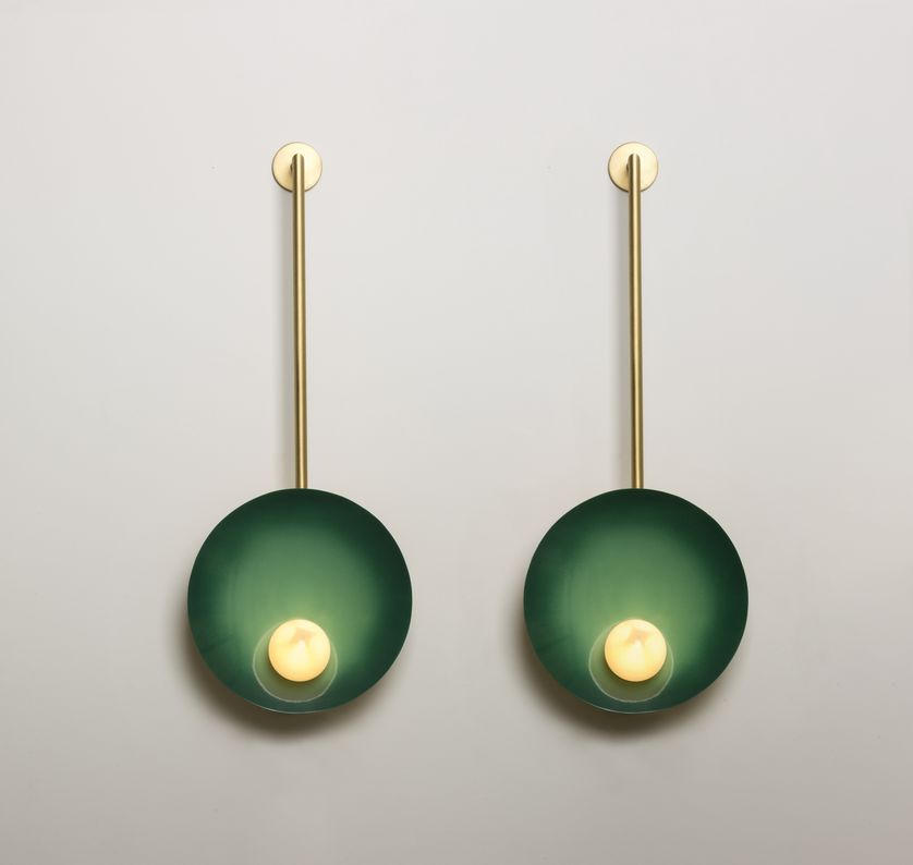Oyster Appliques (emerald green)