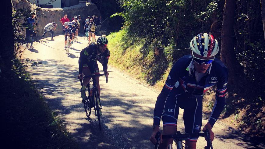 Romain Bardet à l'entrainement sur les hauteurs autrichiennes